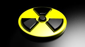 Nuclear warning sign Stock Photos