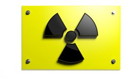 Nuclear warning sign Royalty Free Stock Image