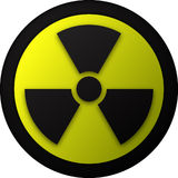 Nuclear warning symbol illustration Stock Photography
