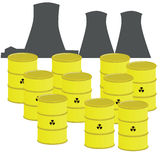 Nuclear waste Royalty Free Stock Photos