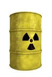 Nuclear waste barrel. View of nuclear waste barrel Royalty Free Stock Photos
