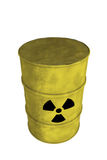 Nuclear waste barrel from top. View of nuclear waste barrel from top Royalty Free Stock Photos