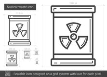 Nuclear waste line icon. Royalty Free Stock Photo
