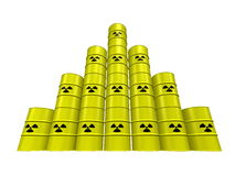 Nuclear waste pyramid Stock Images