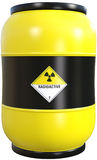 Nuclear Waste Radioactive Material Isolated Royalty Free Stock Images