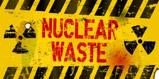 Nuclear waste stock illustration