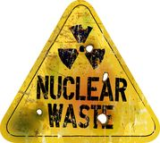 Nuclear waste royalty free illustration