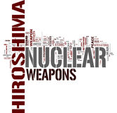 Nuclear Weapons. Word cloud on white background Royalty Free Stock Photos