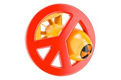 Nuclear weapons prohibition concept, 3D rendering Royalty Free Stock Photo