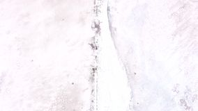 Nuclear winter white landscape toxic snow surface. Nuclear winter. White landscape. Toxic snow surface stock video footage