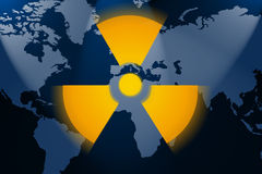 Nuclear world. Illustration of the real dangerous nuclear world Royalty Free Stock Images