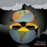 Nuclear world  illustration Royalty Free Stock Image
