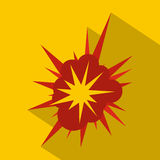 Nucleate explosion icon, flat style. Nucleate explosion icon. Flat illustration of nucleate explosion vector icon for web Stock Image