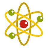 Nucleus and orbiting electrons icon isolated. Nucleus and orbiting electrons icon flat isolated on white background vector illustration Stock Photos