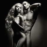 nude αισθησιακός ζευγών Στοκ Φωτογραφία