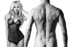 nude αισθησιακός ζευγών Στοκ Φωτογραφίες