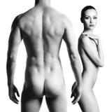 nude αισθησιακός ζευγών Στοκ Εικόνες