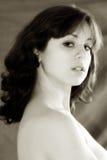 nude γυναίκα σεπιών πορτρέτου Στοκ Εικόνες