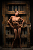 Nude με την παλέτα Στοκ φωτογραφία με δικαίωμα ελεύθερης χρήσης