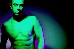 Nude μυϊκό κατάλληλο άτομο γυμνό Στοκ Φωτογραφία