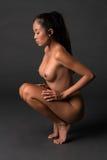 Nude σε γκρίζο Στοκ Εικόνες