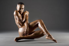 Nude African American woman Stock Images