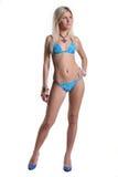 Nude beautiful girl with a zephyr Stock Photos