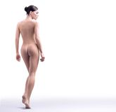 Nude beauty walking Royalty Free Stock Photography