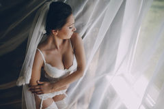 Nude bride Stock Images