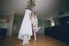 Nude bride Stock Photos