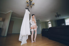 Nude bride Royalty Free Stock Images