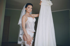 Nude bride Royalty Free Stock Photography