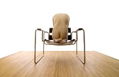 Nude in a Chair Royalty Free Stock Photography