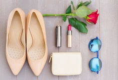 Free Nude Colored High Heels Still Life Royalty Free Stock Images - 75724349