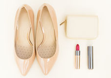 Nude colored high heels still life Stock Image