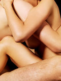 Nude couple in passionate embrace Royalty Free Stock Photos
