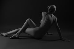 Nude female body Stock Photo