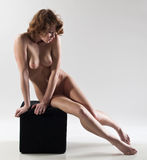 Nude female sitting Stock Image