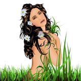 Nude Girl In Grass Stock Photos