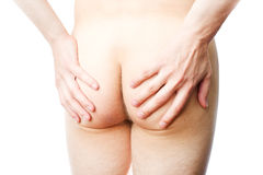Nude male buttocks Stock Photo