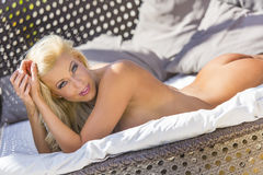 Nude Model Relaxing Royalty Free Stock Photo