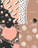 Nude pattern with template for text royalty free illustration