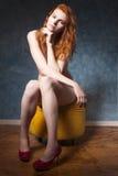 nude redhead Στοκ Εικόνες