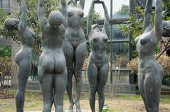 Nude Sculptures in Shanghai art area Stock Photos