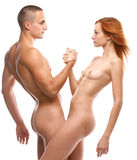 Nude sexy couple in love Royalty Free Stock Photo