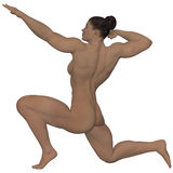 Nude strong woman Royalty Free Stock Image