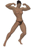 Nude strong woman Royalty Free Stock Images