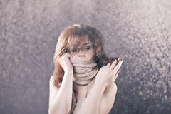 Nude under the snow Royalty Free Stock Photo