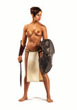 Nude warrior woman Royalty Free Stock Image