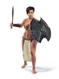 Nude warrior woman Royalty Free Stock Images